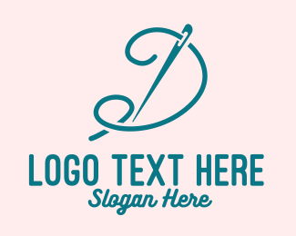 Thread - Needle & Thread Letter D logo design