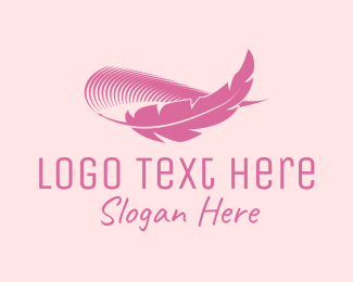 Eyebrow Salon - Pink Feather Eyebrow  logo design