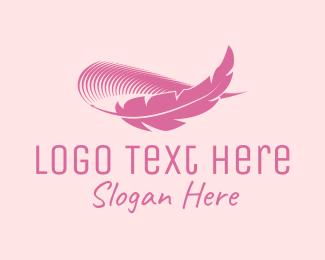 Eyebrow - Pink Feather Eyebrow  logo design