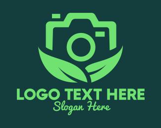 Camera Repair - Green Eco Photography Camera logo design