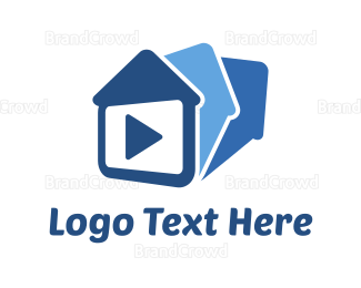Video Player - House Media logo design