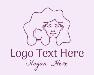 Strong - Strong Woman Fist  logo design