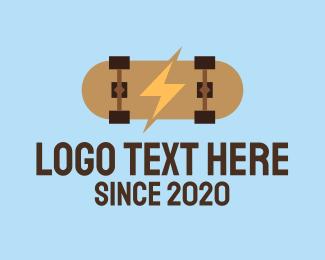 Skater - Generic Electric Skateboard logo design