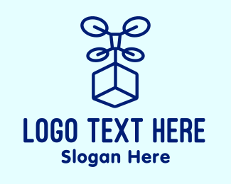 Shipping Service - Box Drone Delivery logo design