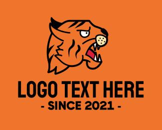 Mascot - Traditional Tiger Tattoo logo design
