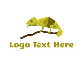 Gecko - Green Chameleon logo design