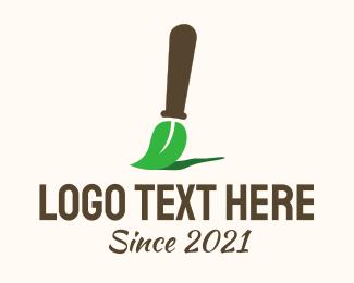 Art Class - Organic Paintbrush logo design
