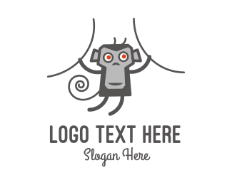 Monkey - Hanging Monkey logo design