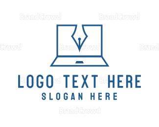 Blogger - Blogger Laptop logo design