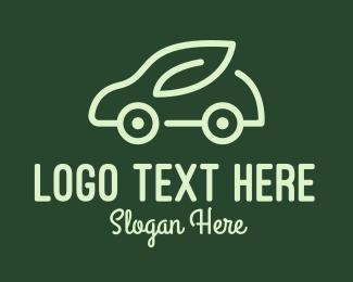 Electric Car - Green Eco Car logo design