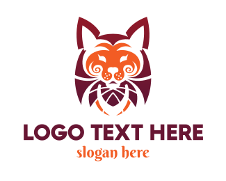 Leopard - Red Tiger logo design