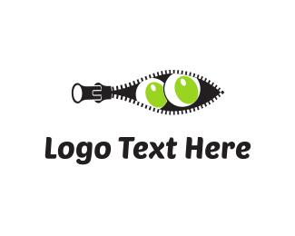 Open - Zipper Eyes logo design