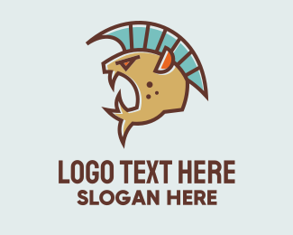 Esports - Scary Fish Mascot logo design
