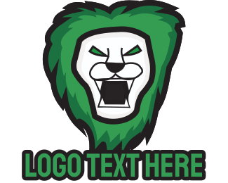 Fangs - Green Lion logo design