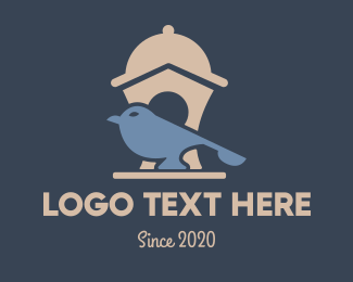 Sparrow - Foody Bird logo design
