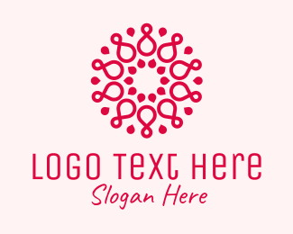Yoga Fitness - Infinity Pattern Spa logo design
