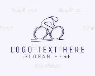 Biker - Minimalist Cyclist  logo design