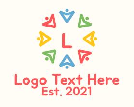 Together - Colorful Community Arrow Letter logo design