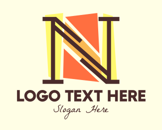 Art Studio - Multicolor Abstract Letter N logo design