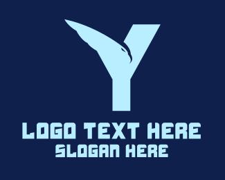 Airline - Eagle Letter Y logo design