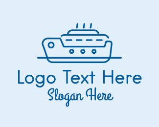 Destroyer - Ocean Cruise Ship Ferry logo design