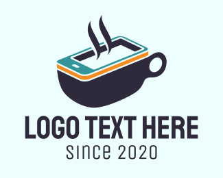 Coffe Shop - Mobile Coffee Cup logo design