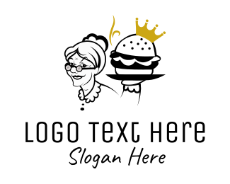Bun - Royal Burger logo design