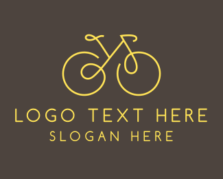 Yellow - Yellow Bicycle Monoline logo design
