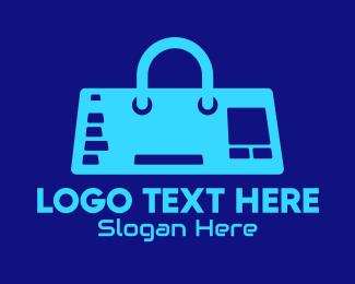 Game Controller - Blue Tech Controller Bag logo design