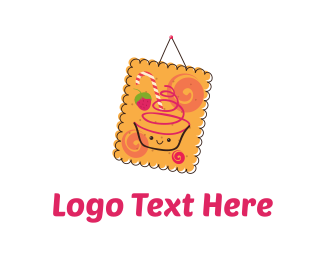 Candy - Cookie & Cupcake logo design