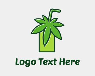 Ejuice - Cannabis Juice logo design