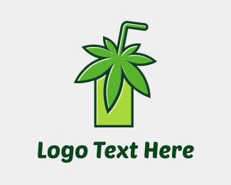 Weed - Cannabis Juice logo design