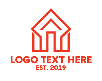 Diamond - Orange Diamond House logo design