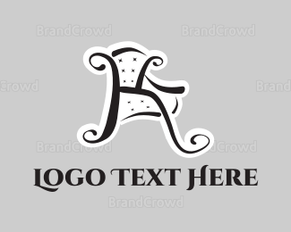 Letter K - Chair Letter K logo design