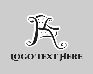 Showroom - Chair Letter K logo design