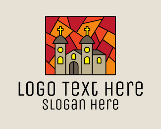 Church Window - Religious Church Mosaic  logo design