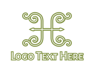 Elegent - Elegent Green H logo design