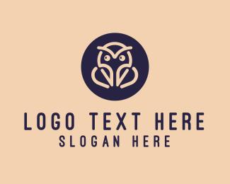 Minimalist - Minimalist Owl logo design