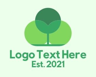 Bush - Green Forest Tree logo design