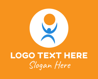 Yoga Training - Human Healthy Lifestyle logo design