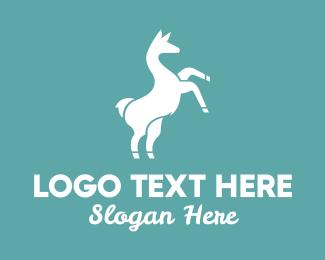Wool - Wild Llama logo design