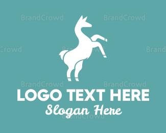 Wild - Wild Llama logo design