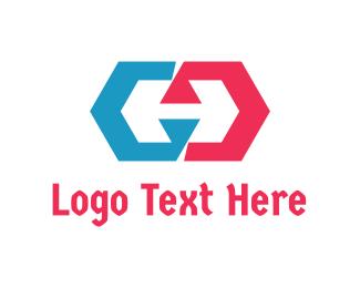 Polygon - Abstract Polygon H logo design