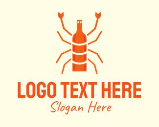 Whistle - Orange Lobster Cuisine logo design