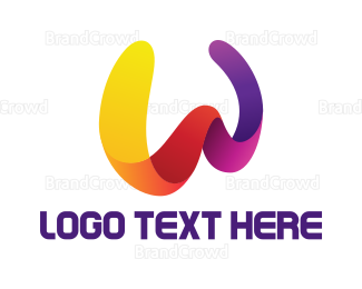 Diversity - Colorful W Stroke logo design