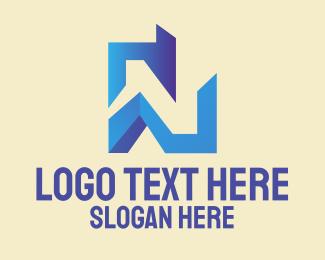 Tech Startup Letter N  Logo