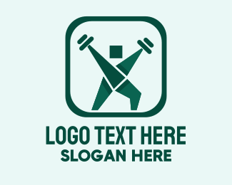 Body Building - Weightlifting Training  logo design
