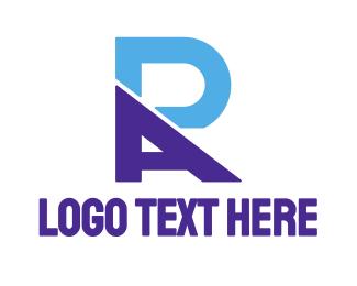 Ra - Modern Blue RA logo design