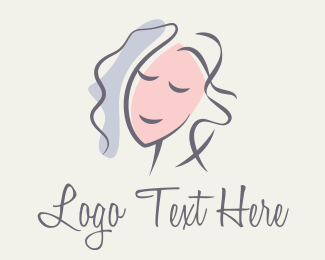 Lifestyle - Brush Stroke Woman Portrait logo design