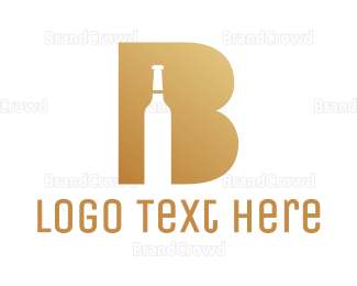 Whiskey - Fancy B Bottle logo design